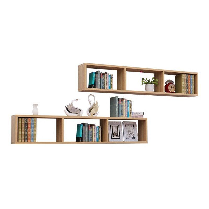 欣颖家居创意简约隔板墙上置物架壁挂墙壁书架简易学生儿童书柜储物架图片