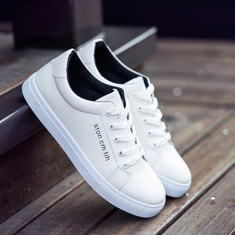 夏季新款板鞋男士休闲鞋小白鞋韩版潮鞋白色运动休闲鞋子百搭秋季