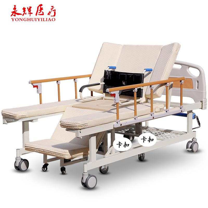 纯手动护理家用瘫痪病人护理病床轮椅可分离 老人多功能翻身医用护理图片