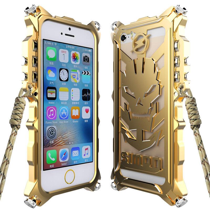 佐禾苹果5s手机壳iphone5手机套金属防摔边框骷髅机械