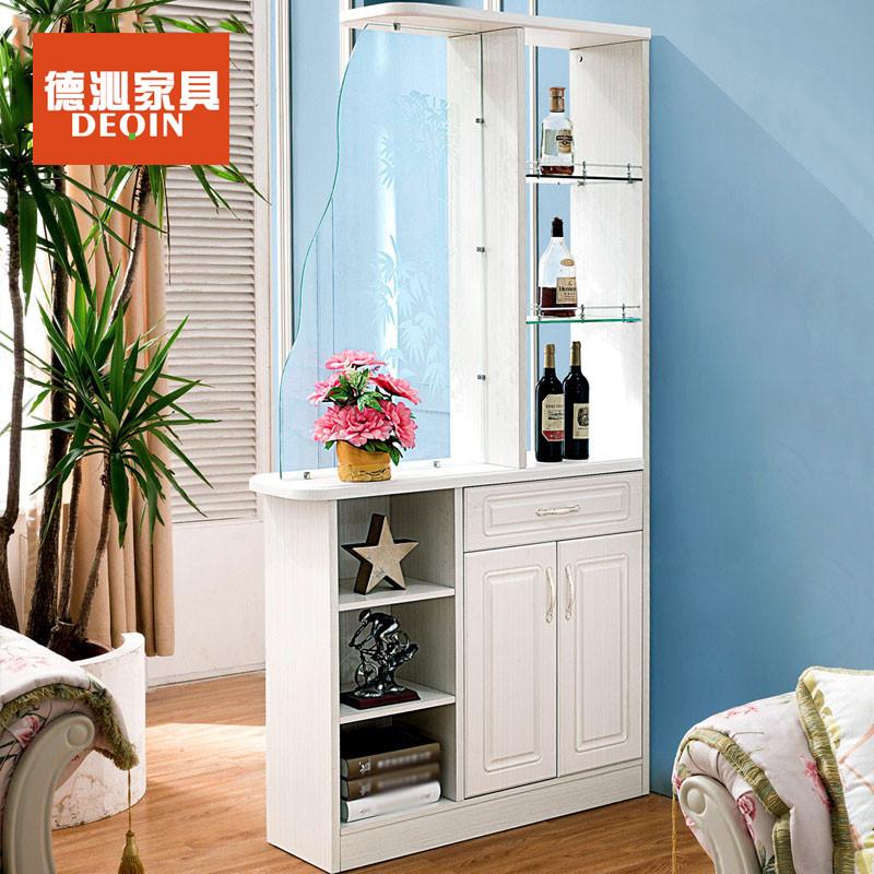 德沁 欧式客厅玄关门厅柜法式板木雕花玻璃门酒柜间厅
