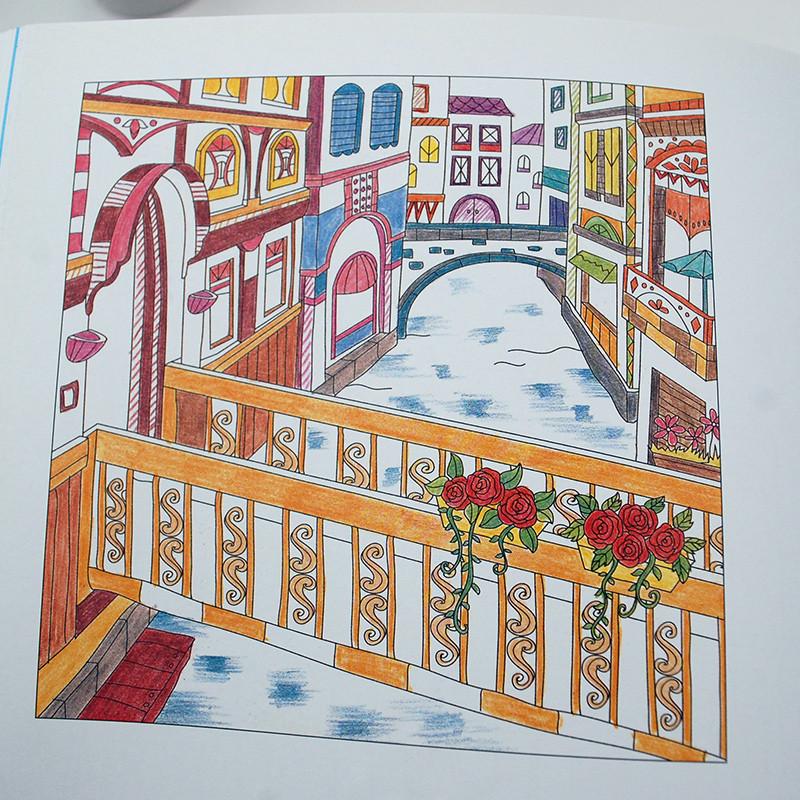 希腊意大利旅行填色书金虎卿著成人手绘涂色本减压涂鸦0-12岁儿童图书