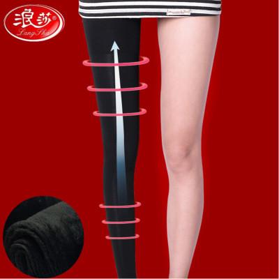 浪莎12000D壓力瘦長腿褲 秋冬打底褲襪女士外穿加絨加厚一體褲