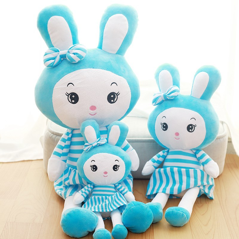 朵啦啦 条纹公主兔子 毛绒玩具大号布娃娃玩偶 生日礼物 女生 代写