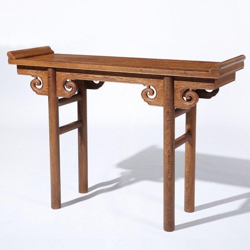 红木家具 鸡翅木实木香案 仿古中式古典供桌中堂案几翘头案/条案 cs图片