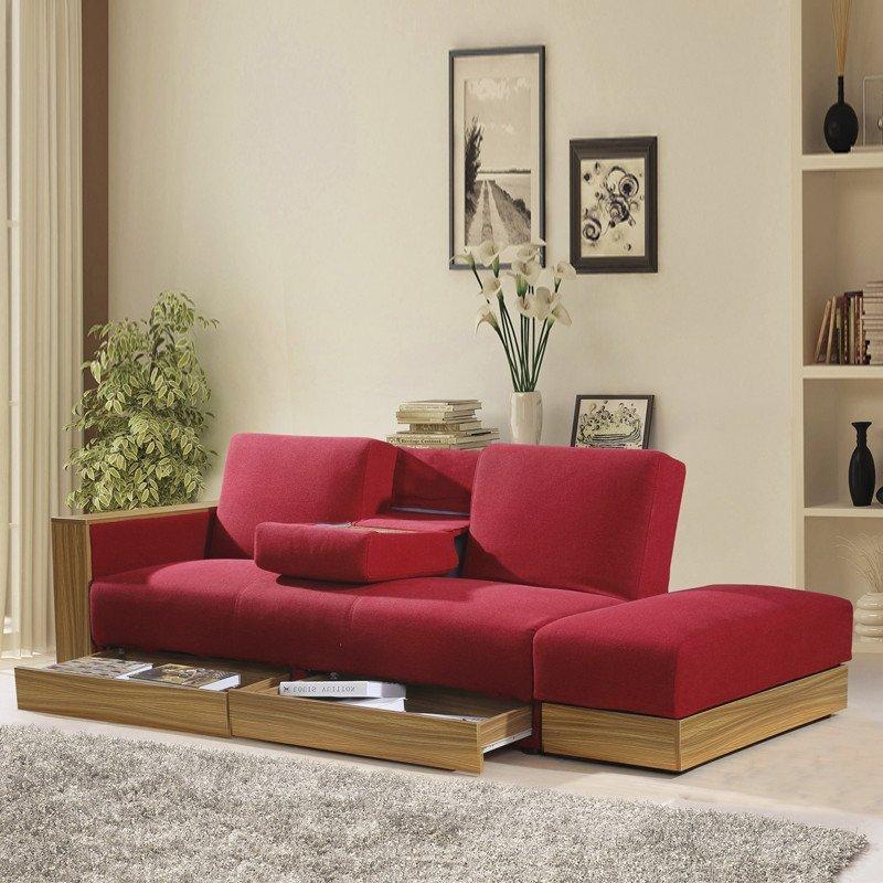 爱尚书亚 简约沙发日式简约多功能布艺沙发床小户型沙发床客厅沙发图片