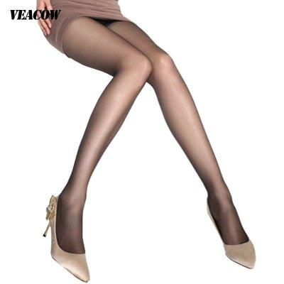 VEACOW 【兩條裝】薄款包芯絲普通檔女士連褲襪 顯瘦無痕時尚誘惑絲襪 拒絕尷尬