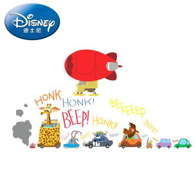 迪士尼正品授权 疯狂动物城卡通人物贴纸 客厅 卧室 儿童房 幼儿园