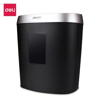 得力deli9929碎纸机办公家用电动静音大功率4级保密小型迷你粉碎机黑色