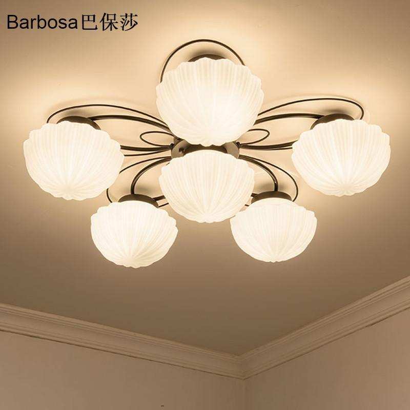 巴保莎美式田园乡村客厅灯led吸顶灯现代简约温馨卧室图片