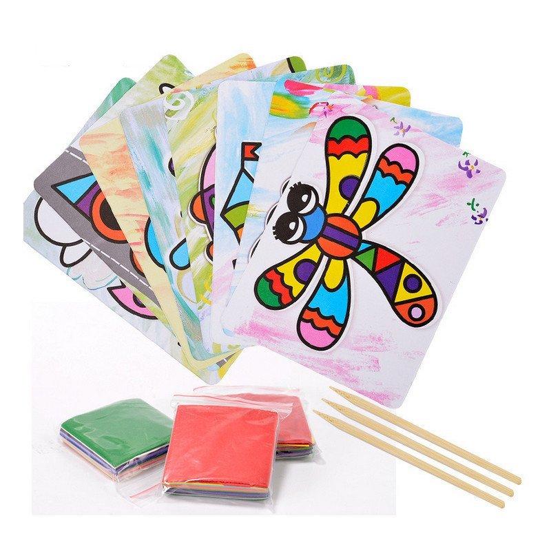 diy手工创意粘纸画立体贴纸画儿童益智早教玩具 0.3 mz67914