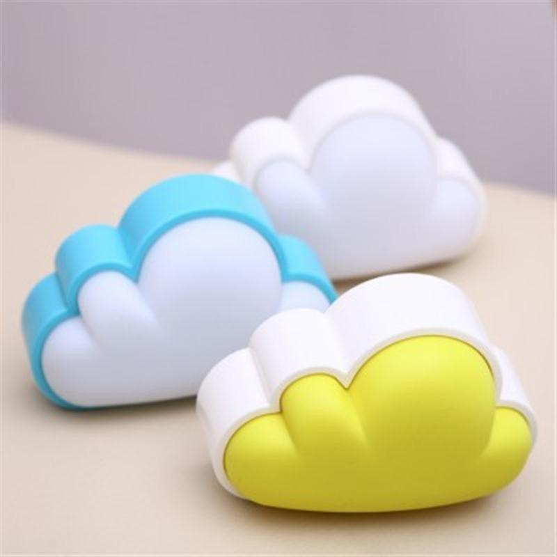韩国创意 可爱光控感应云朵小夜灯