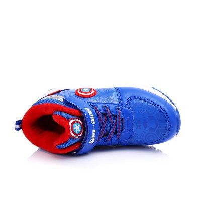 迪士尼/disney 冬季新品4-13岁男女款多款式高帮保暖运动鞋跑步鞋ds2