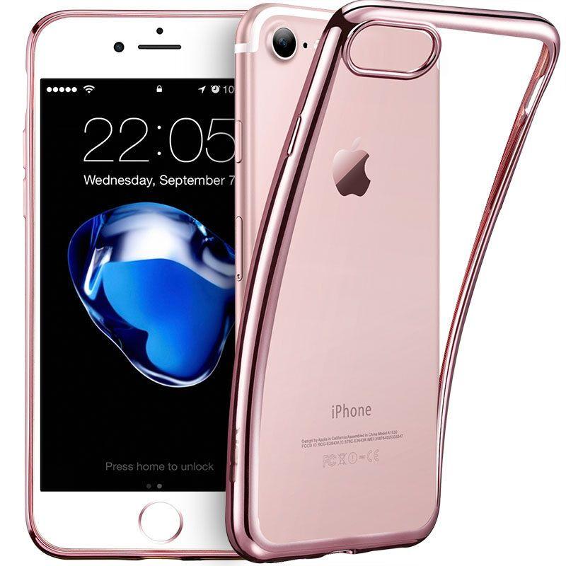 罗凡尼 iphone7/plus手机壳 苹果7 电镀手机tpu手机保护套后壳 透明