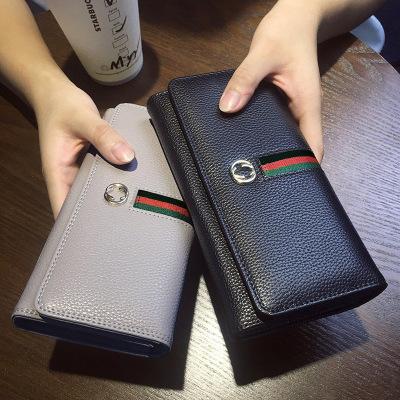 思米妮卡(SMINICA) 女钱包 2018新款拉链PU女士钱包欧美时尚长款时尚手机包女手机皮夹
