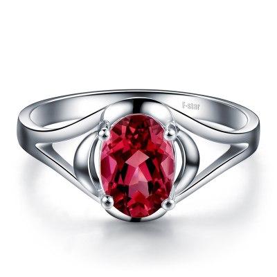 恒久之星 1.04克拉红碧玺戒指女戒 18K金镶嵌彩色宝石手饰