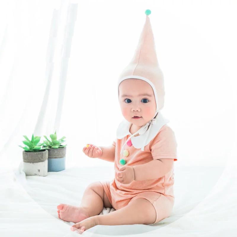 小琳琅夏装韩国婴儿造型连体衣服女宝宝超柔纯棉可爱娃娃领哈衣