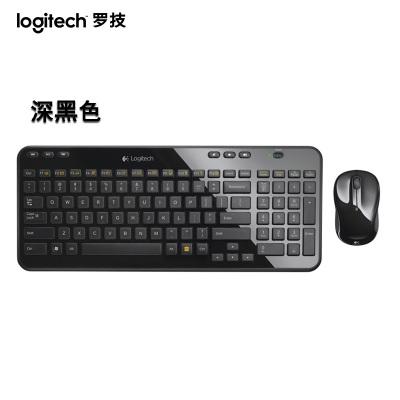 【罗技旗舰店】罗技(Logitech)MK365 无线键鼠套装 无线鼠标无线键盘套装(深黑色)