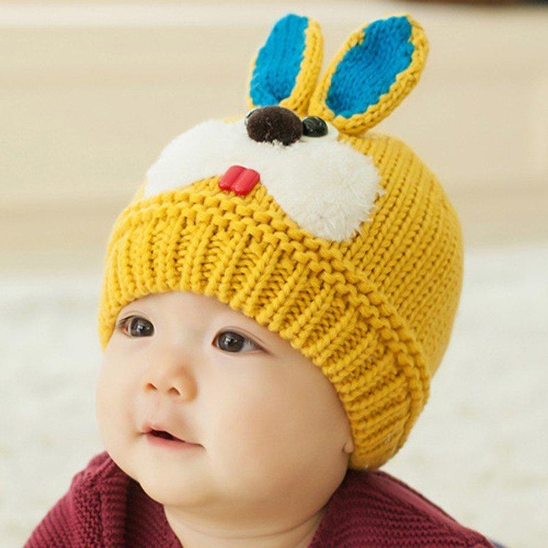 公主妈妈 秋冬季男女宝宝帽子 儿童毛线帽子保暖帽 韩版婴儿帽子护耳