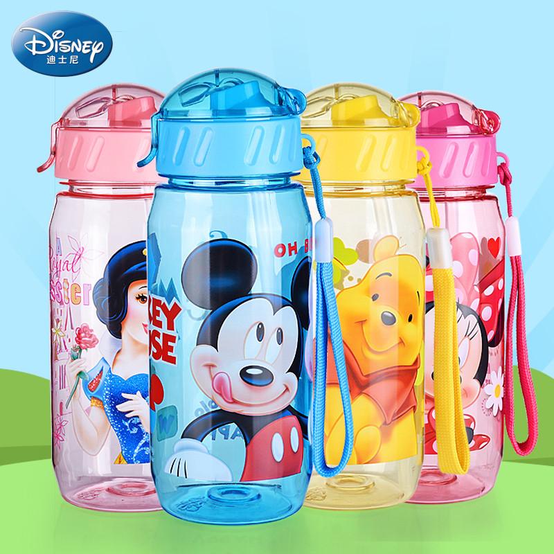 迪士尼儿童水杯吸管杯防漏小孩水瓶夏季杯子水壶饮水杯宝宝喝水杯