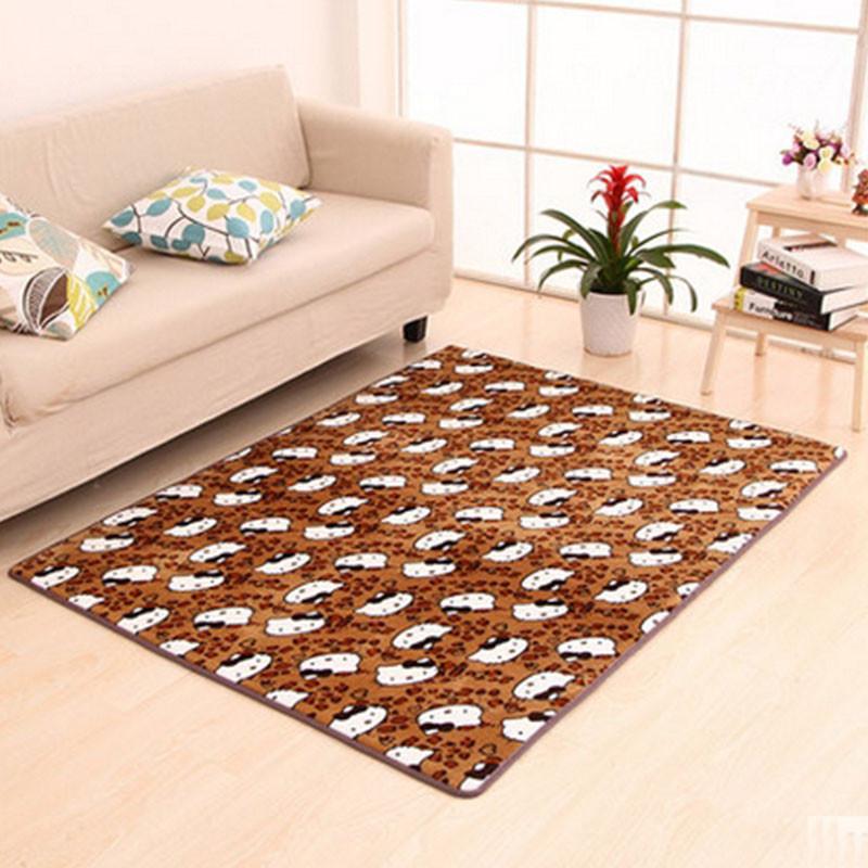 珊瑚绒茶几客厅地毯地垫加厚加长加大床头垫子飘窗垫防滑地毯垫 紫地