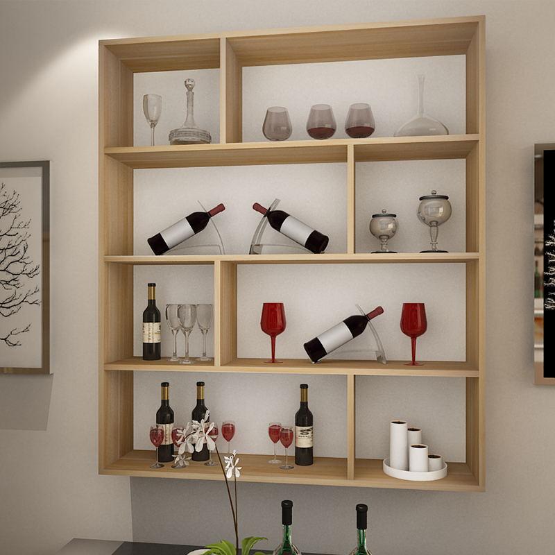 鹿梵简约酒柜壁挂酒架客厅墙上置物架餐厅创意悬挂饭店用挂壁式红酒