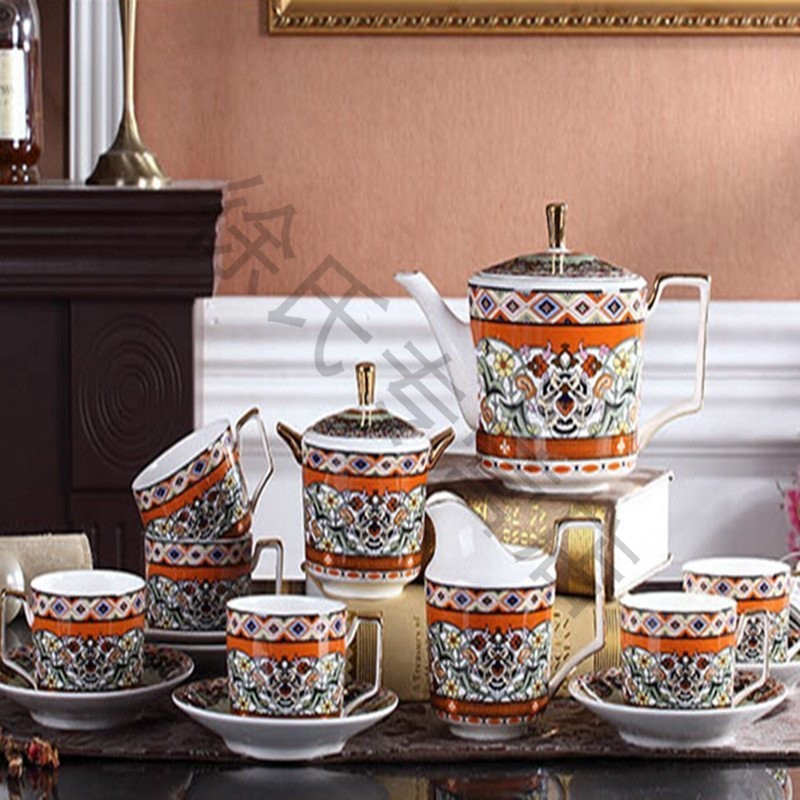 英式下午茶茶具套装 欧式茶具陶瓷杯具 茶壶咖啡具整套图片