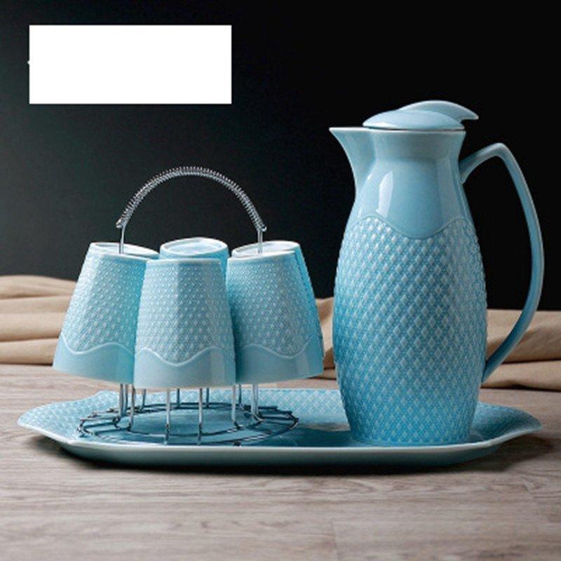 大润窑 水具陶瓷凉水壶水杯套装创意陶瓷冷水壶茶具水杯具套装结婚图片