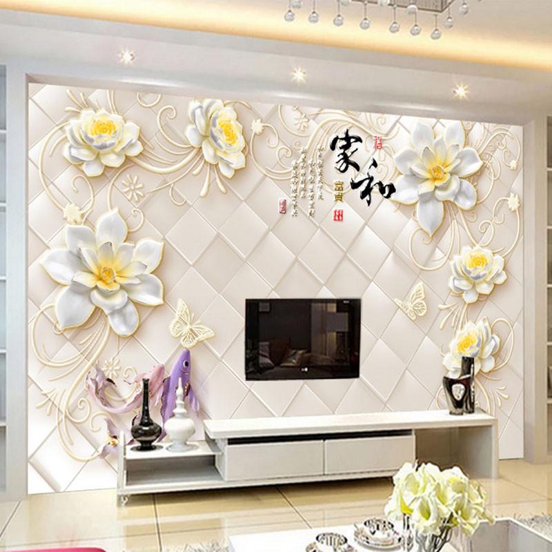 徐健8d壁画电视背景墙壁纸5d立体客厅装饰中式墙纸现代简约影视墙布3d