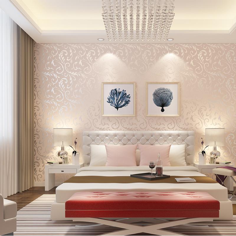 徐健 电视背景墙欧式无缝墙布客厅卧室无纺布壁布3d立体简约现代