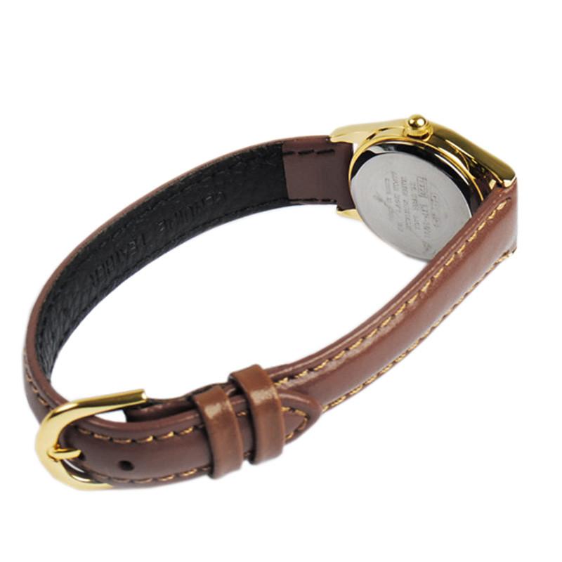 卡西欧(casio)黑色皮带简约小巧女士石英手表ltp-1094