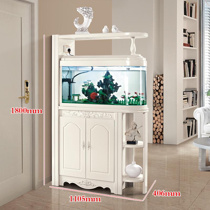 紫茉莉 欧式鱼缸玄关柜酒柜隔断柜间厅柜隔厅柜带鱼缸