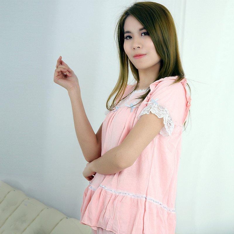 美丽记忆的秘密莫代尔夏季家居服短袖性感可爱公主青春两件套特别适合
