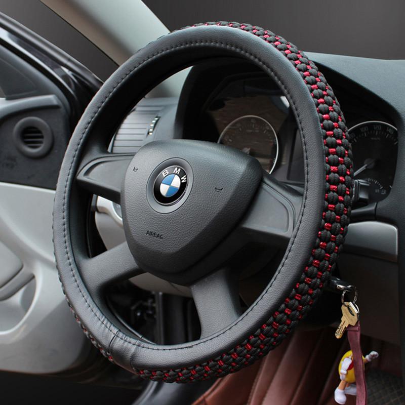 汽车方向盘套夏季四季通用冰丝把套适用于速腾飞度科鲁兹卡罗拉朗动