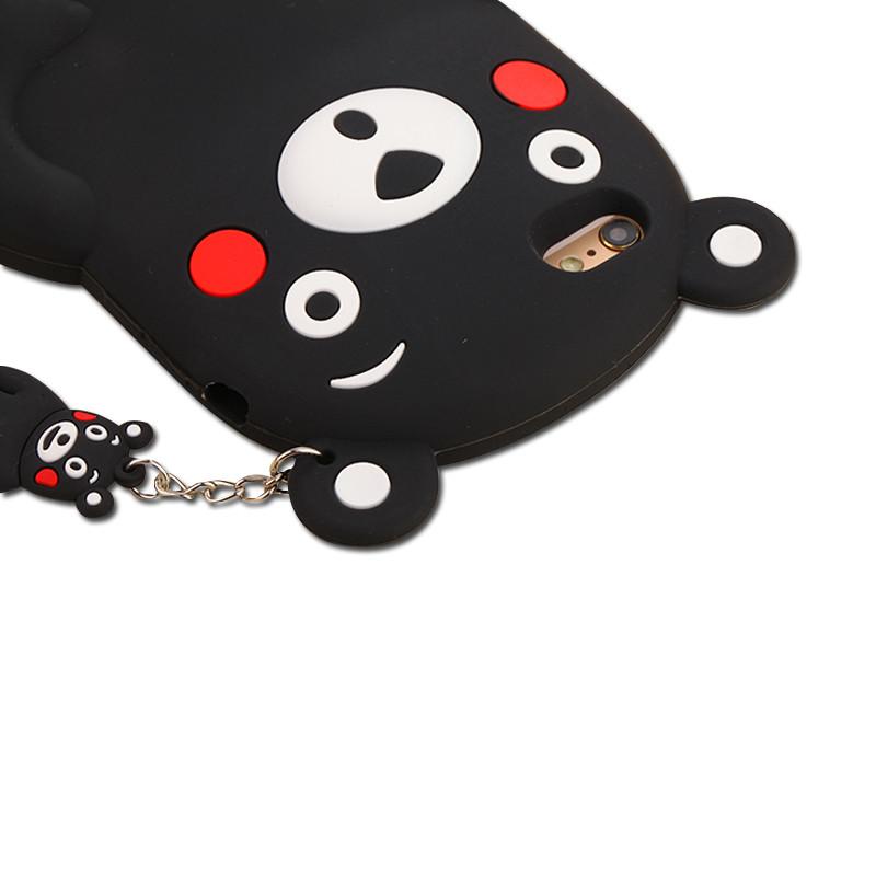 雪奈儿 iphone7手机壳卡通熊本熊6s硅胶5.5寸保护套