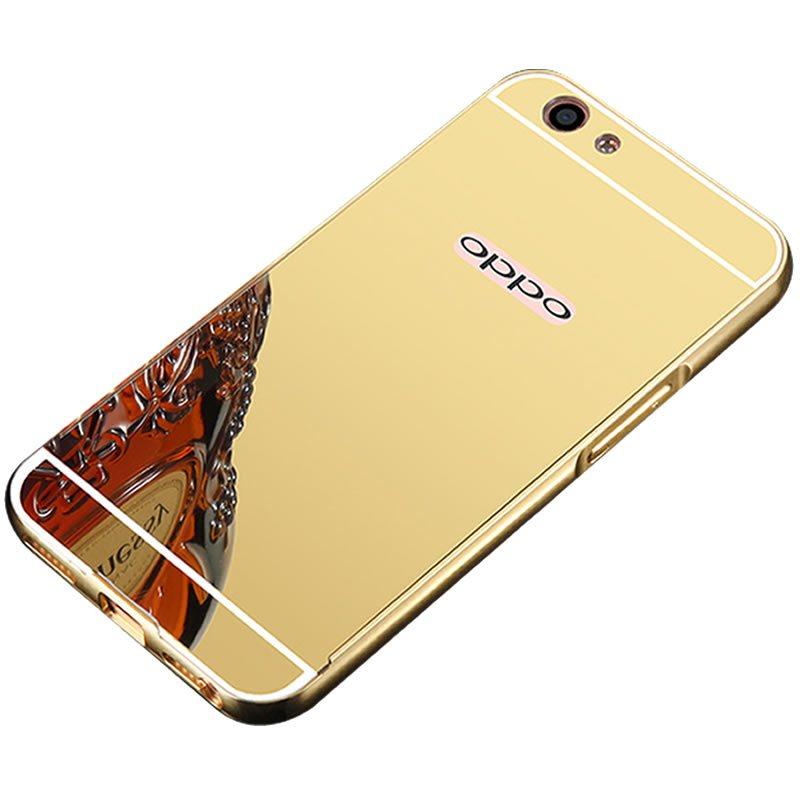 雪奈儿 oppo r9s 手机壳手机套金属边框保护套 适用于