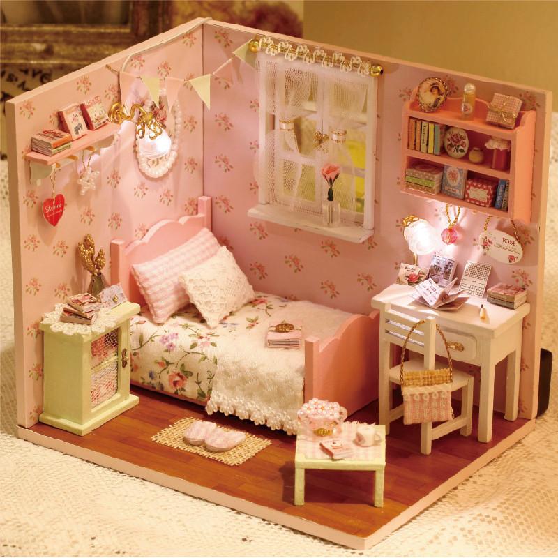创意diy礼物手工制作木质拼装房子小屋 创意生日礼物送女生儿童情人节