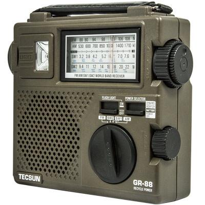 Tecsun/德生 GR-88全波段收音机 应急照明手摇发电老人立体声半导体