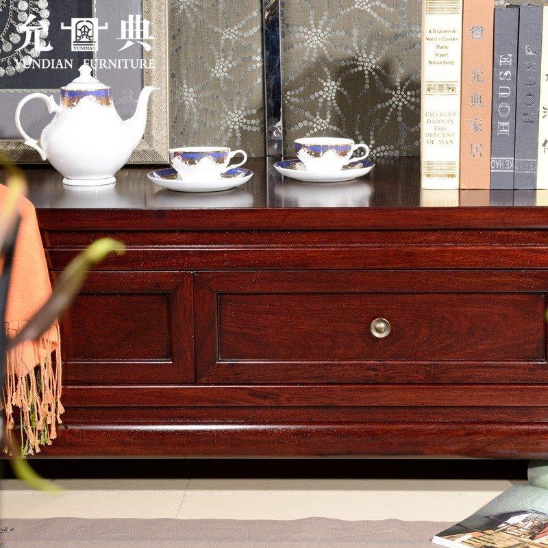 允典红木家具 花梨木金龙客厅低电视柜