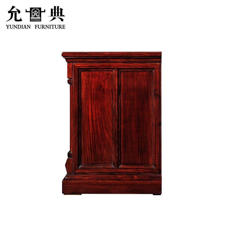 允典红木家具 花梨木01型欧式新古典小电视柜 卧房柜 矮柜