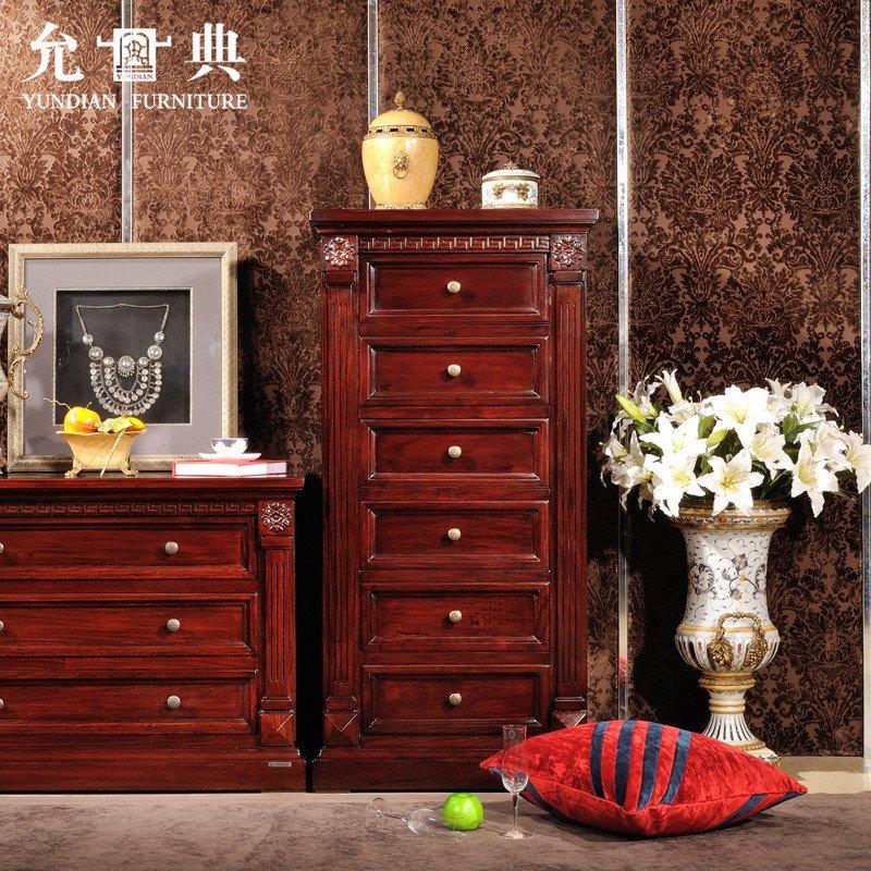 允典红木家具 花梨木01型欧式新古典单抽橱