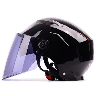 野马YEMA325夏季电动摩托车头盔男 双镜片防晒防紫外线半覆式电动车安全帽女