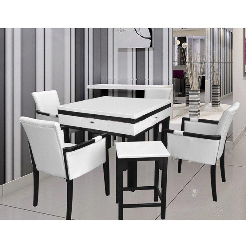 家用欧式实木麻将机餐桌两用棋牌室娱乐静音麻将桌全国包邮 上门维修