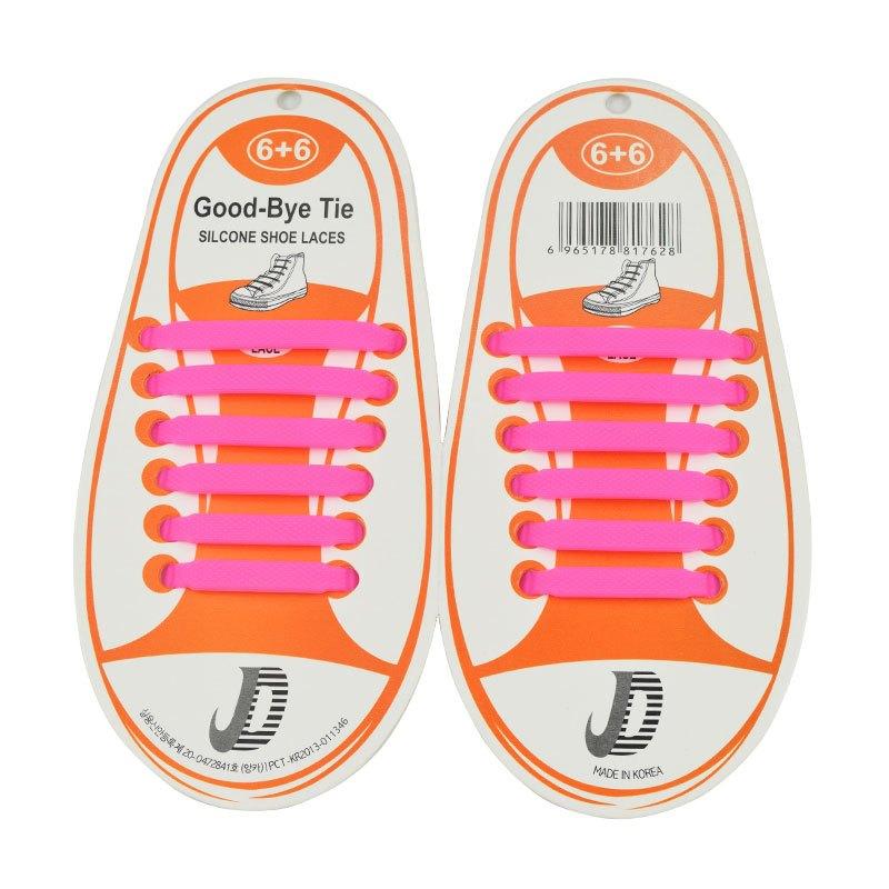 弹性儿童免系鞋带圆形彩色跑步鞋带