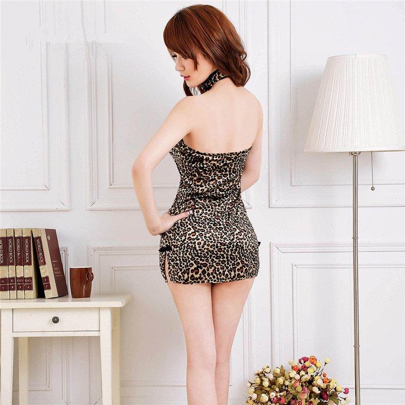 女性丝袜情趣内衣豹纹制服睡裙女式女骚黑套装情趣可以包臀衣夜店内裤旗袍成人的放拼接图片