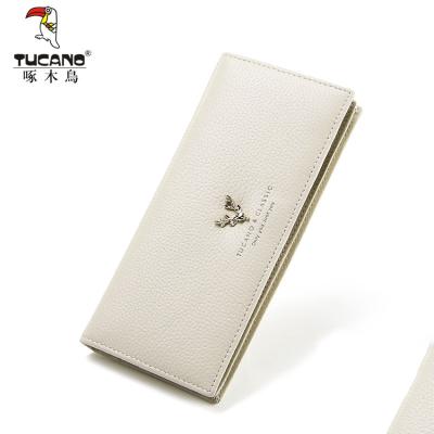 啄木鳥(TUCANO)錢包2020新款真皮錢包女長款薄小清新日韓簡約時尚個性錢夾