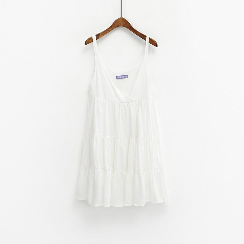 宽松收腰棉连衣裙
