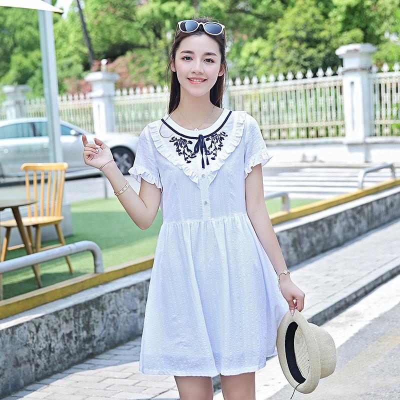 蔚缇少女连衣裙可爱中长款夏季新款中学生小清新文艺裙