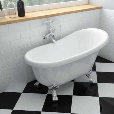 艾吉諾 古典亞克力貴妃浴缸 獨立式歐式彩色 保溫浴盆成人1.2米1.3米1.4米1.5米1.6米1.7米含下水器