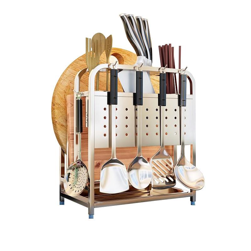 积米 刀架筷子 架子菜刀刀座厨房置物架用品304不锈钢多功能家用图片